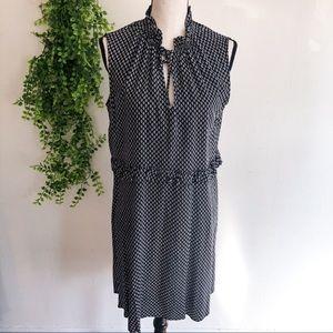 H&M Geometric Dotted Shift Black + White Dress 12